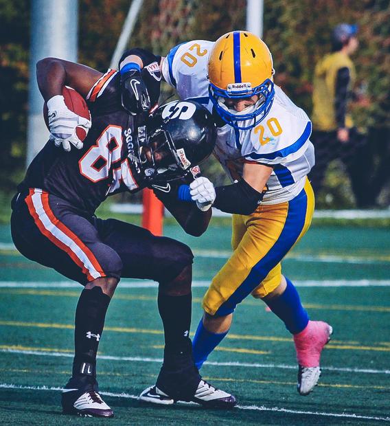 The Ottawa Sooners host the Burlington Braves in Canadian Junior Football League action.