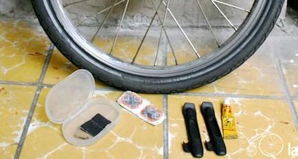 Cómo parchar la cámara de tu bicicleta