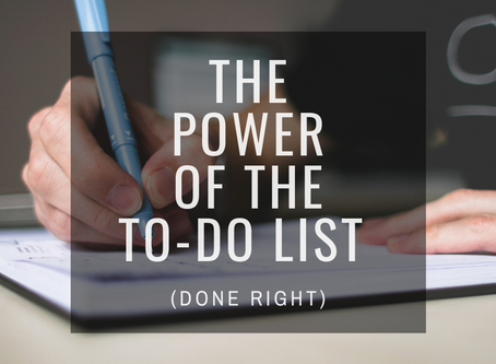 The Power of the To Do List