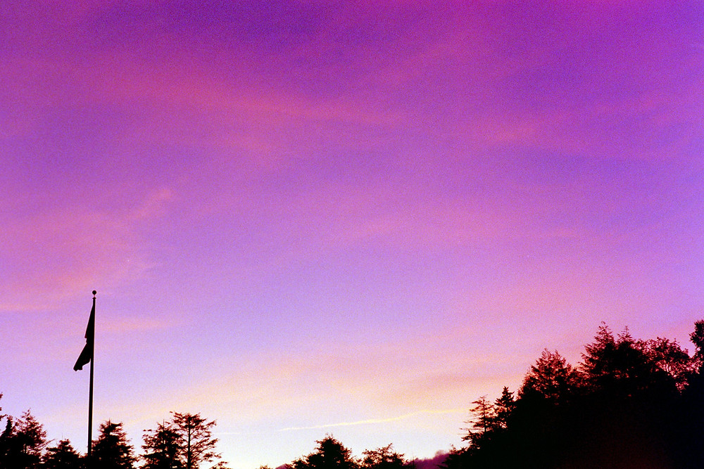 A 35mm photo of a beautiful sunrise at Blackwater Falls State Park in West Virginia