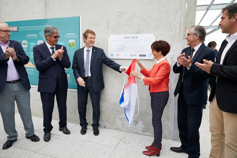 Inauguration station épuration conseil départemental de la Haute-Garonne