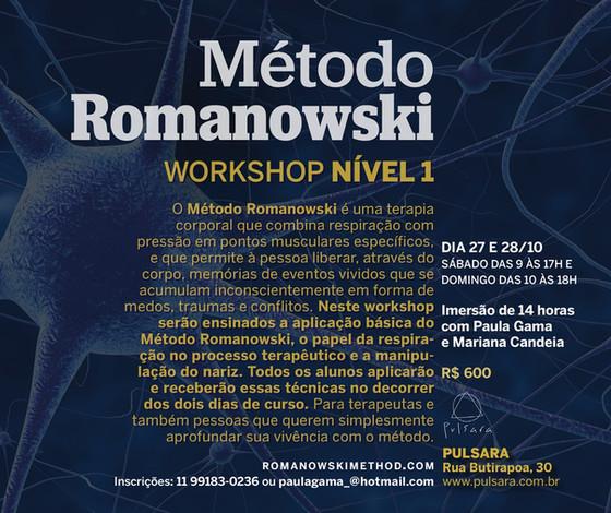 Workshop Nível 1 de Método Romanowski Outubro 2018