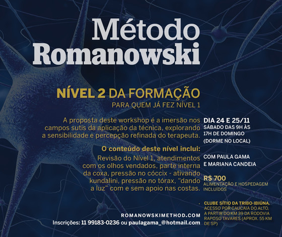 Workshop Nível 2 de Método Romanowski Novembro 2018