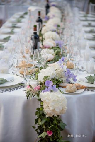 décoration table mariage lyon - fleriste lyon mariage