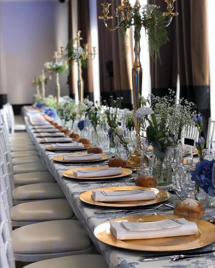 Décoration florale salle de mariage lyon