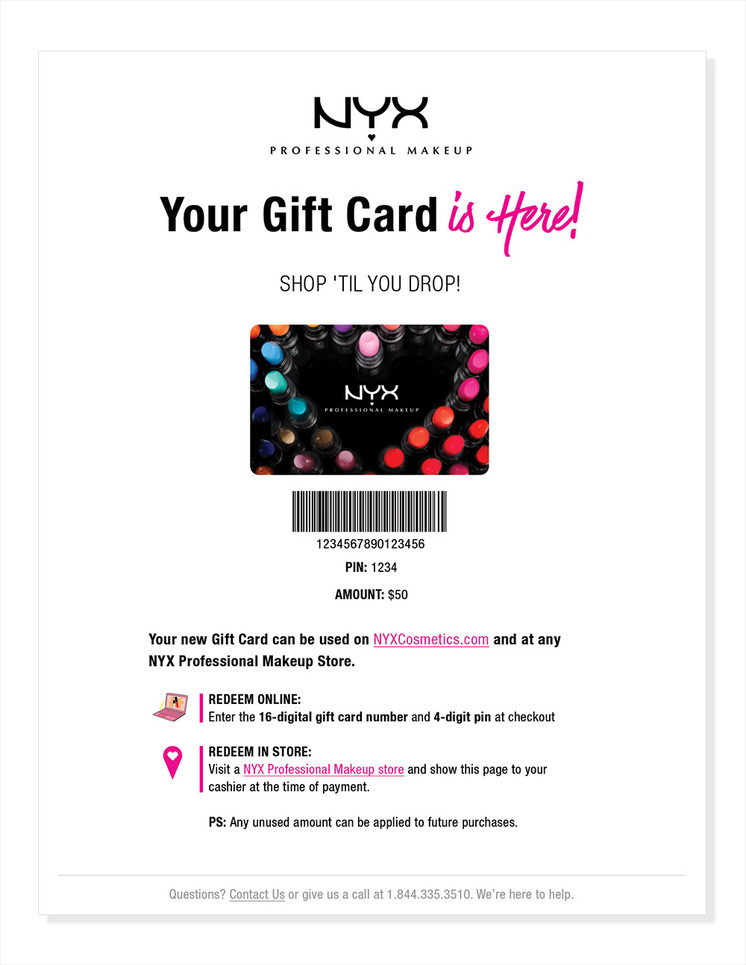 Hosted Gift Card Page