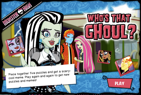Who's That Ghoul? Game