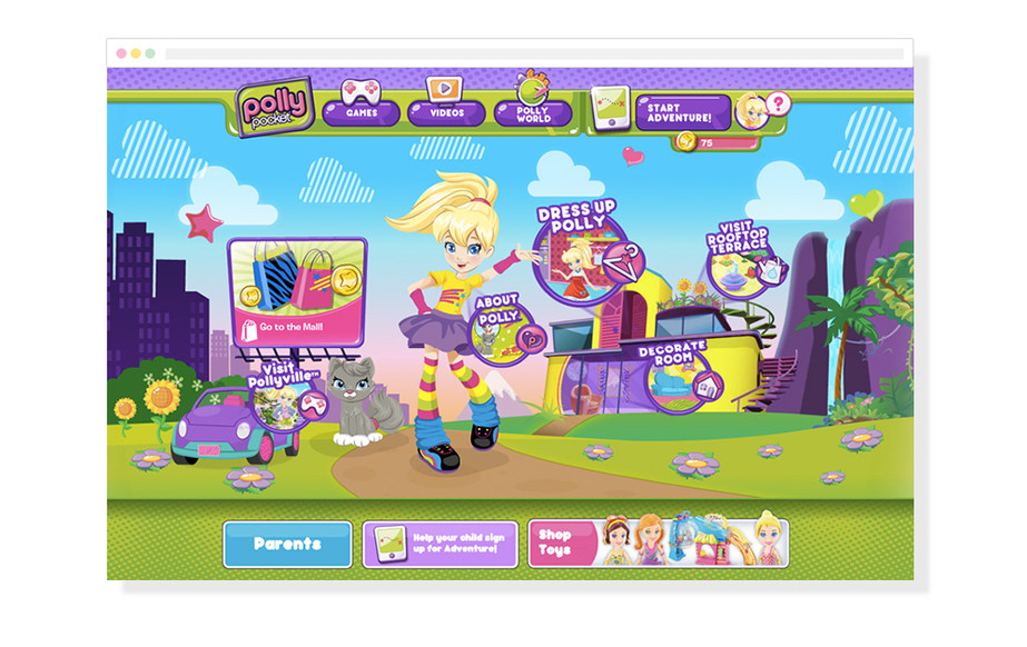 Polly's World Landing Page