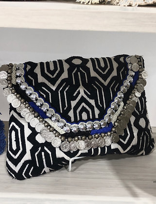 Indian Boho Coin Clutch