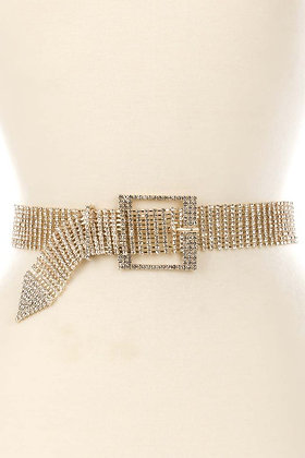 Diamond Statement Belt (Gold)