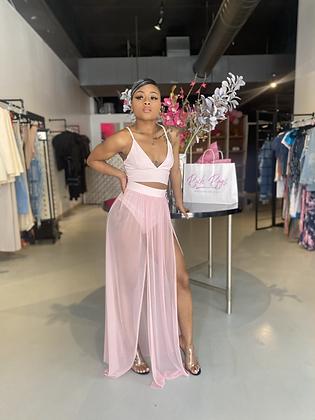 Whats Mine Is Mine | Pink Skirt Set