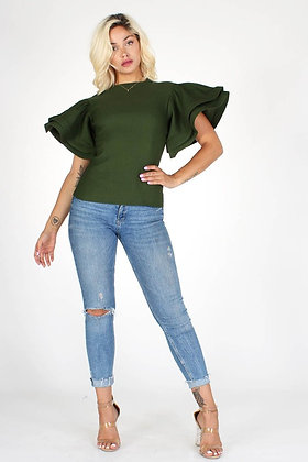 Stampede | Army Green Blouse