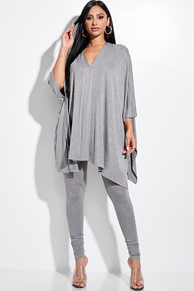 Rich And Relaxed | Grey Legging Chill Set