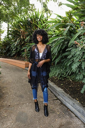 Living In Lace | Black Kimono
