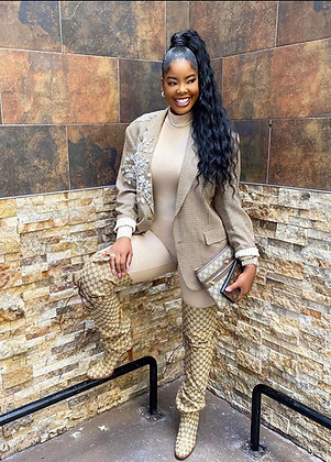 Jazzy Jumpsuit | Taupe