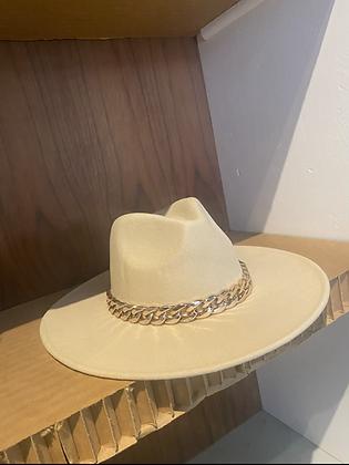 Cuban Cowboy | Chain Detail Brim Hat