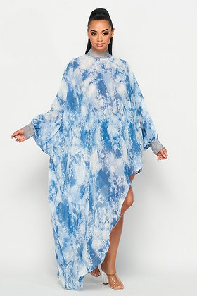 Summer Skies   Blouse Dress