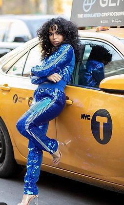 Everything That Glitter| Sequin Jogger Suit
