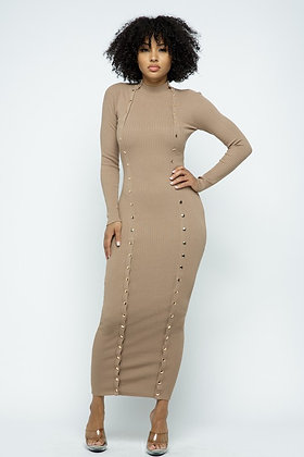 Nothing Less | Milk Coffee Ribbed Maxi