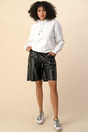BelieveThe Hype | Black Leather Shorts