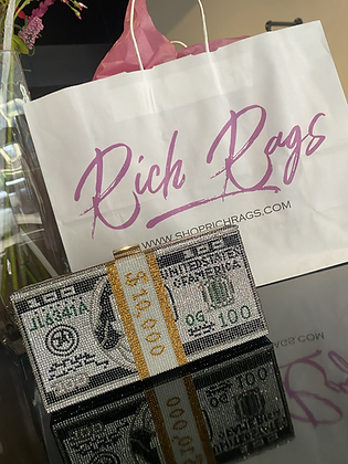 Money Bag | Rhinestone Purse