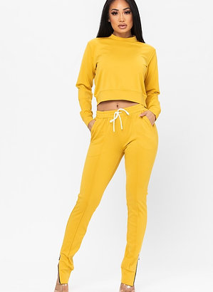 She So Bright | Yellow Jogger