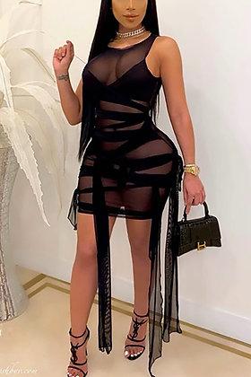 Mixed Up | Black Mini Dress