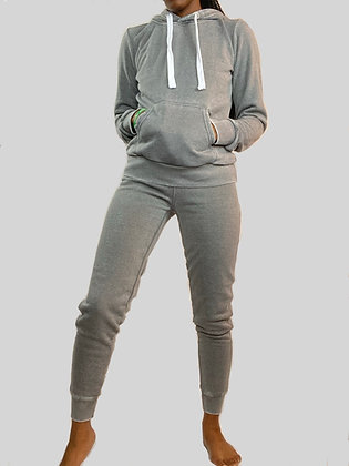 So Chilled Out | Gray Jogger Set