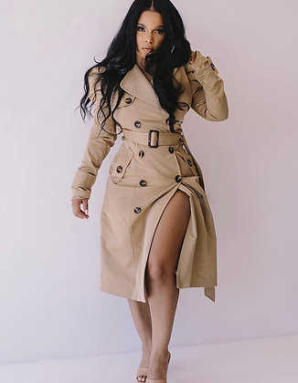 Inspector She | Trench Coat Dress