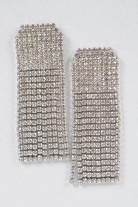 Curtain Drop Diamond Earrings