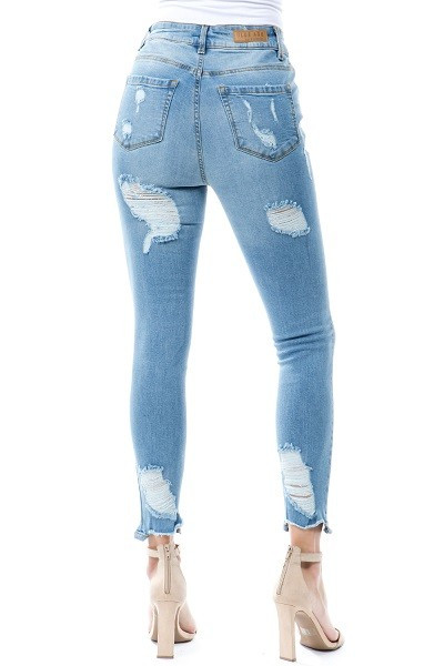 05a5d9785b5 Light Colored Distressed Denim. $ 34.90. Womens Skinny Jeans Butt Lifting  Designed High Waisted; Young Contemporary Look, Super Stretch *Models'  Height is ...