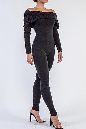 Don't Sweat Me | Black Jumpsuit