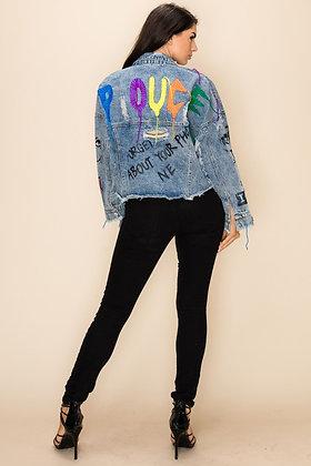 Rich Graffiti   Denim Jacket