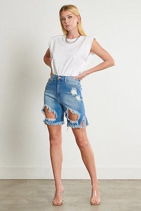 Angie | Denim Bermuda Shorts