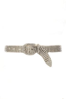 Diamond Statement Belt (Silver)