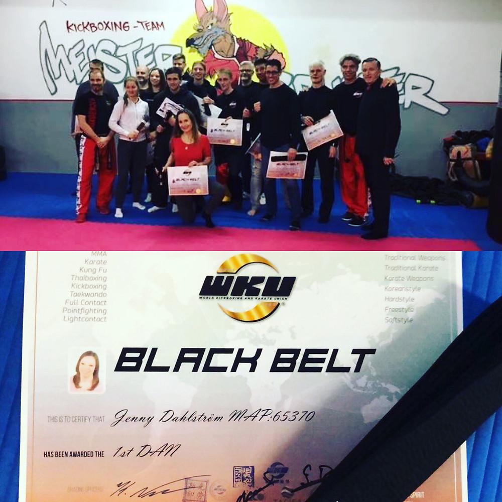 schwarzgurtprüfung kickboxen