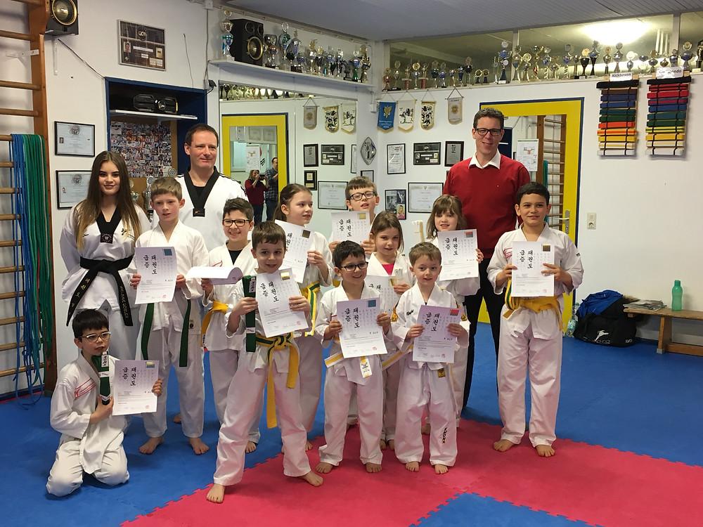 Taekwondo Gürtlelprüfung