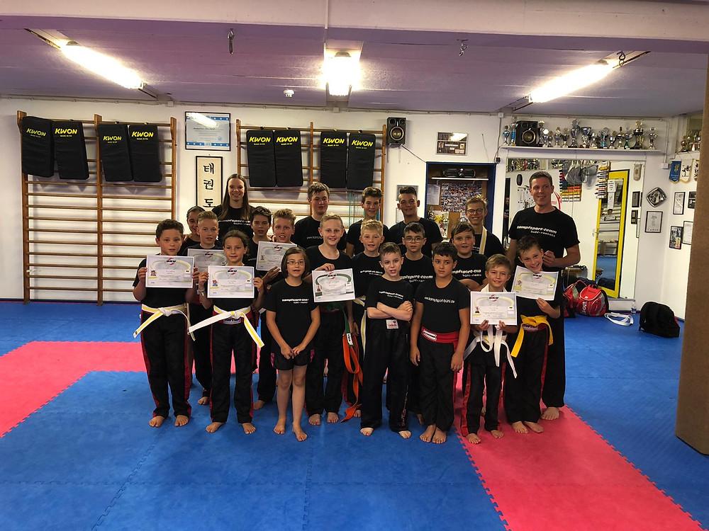 Gürtelprüfung Kickboxen