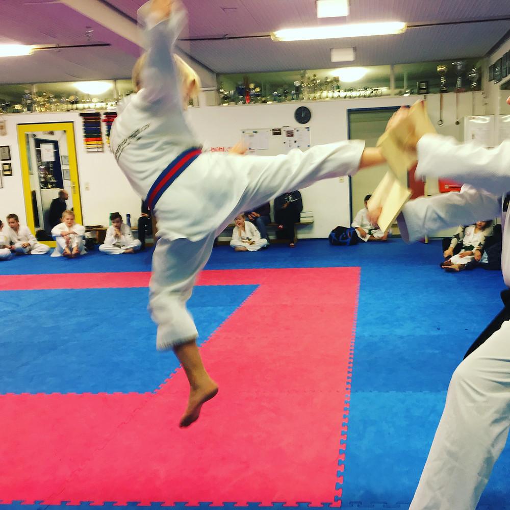 Taekwondo Gürtelprüfung Bruchtest