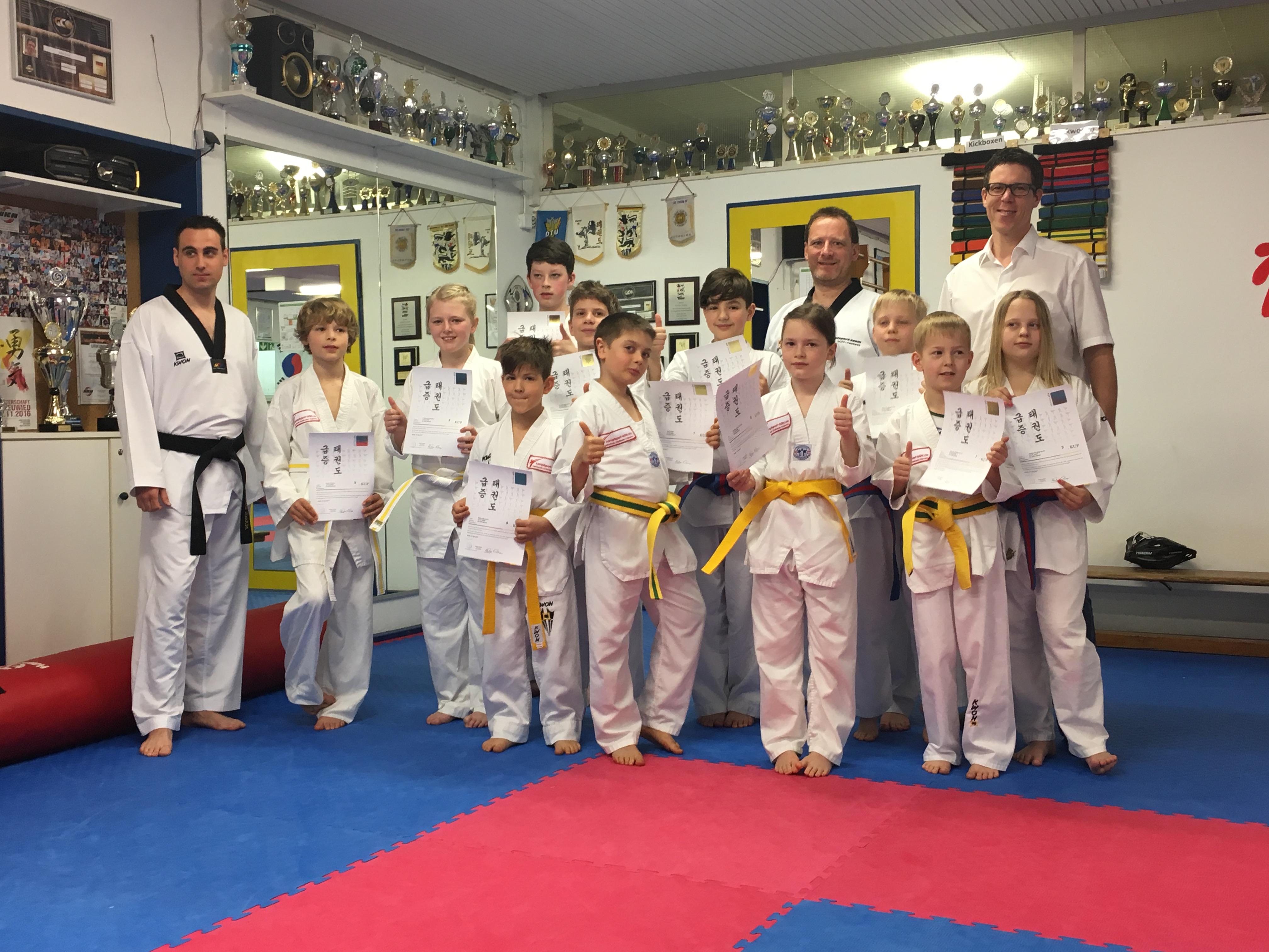 Gürtelprüfung Taekwondo