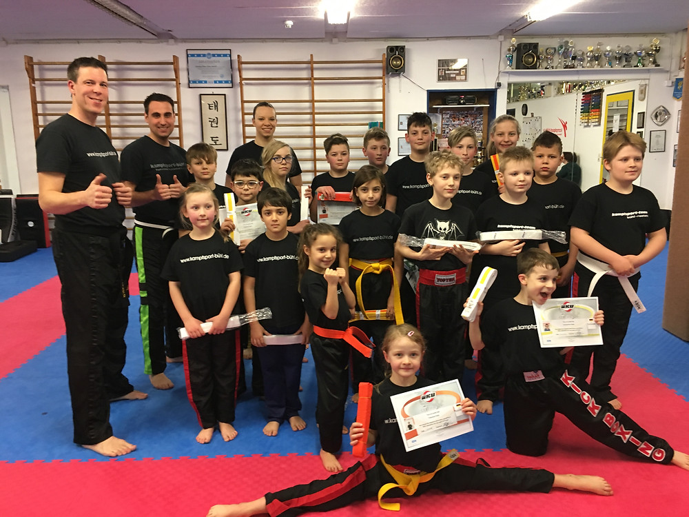 Gürtelprüfung Taekwondo Kids