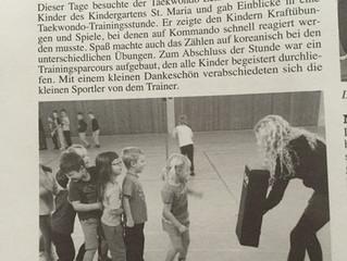 Taekwondo im Kindergarten