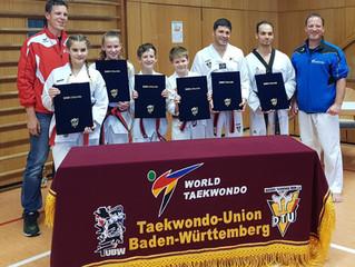 Schwarzgurtprüfung im Taekwondo
