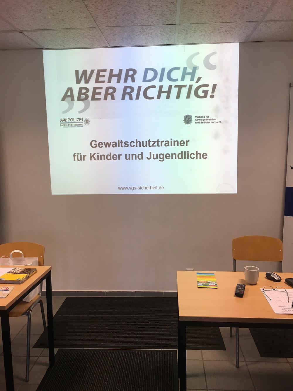Ausbildung Gewaltschutztrainer