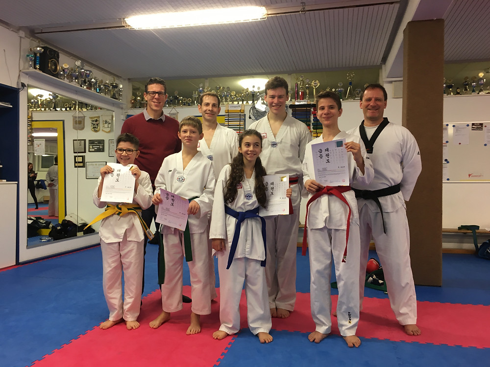 Taekwondo Prüflinge