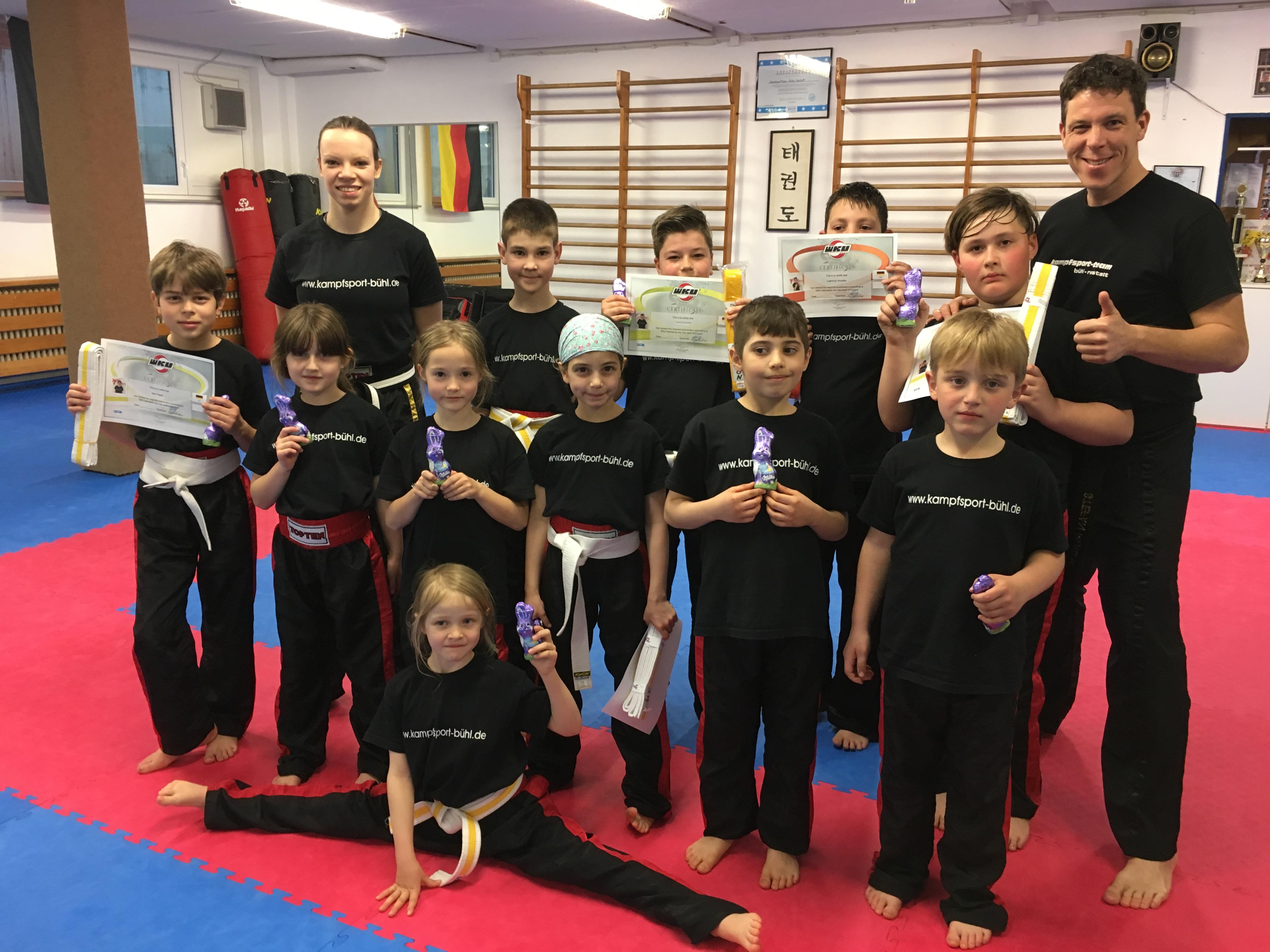 Gürtelprüfung Kickboxen Kids