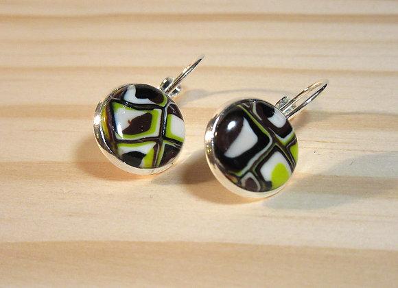 Boucles d'oreilles sur support argenté