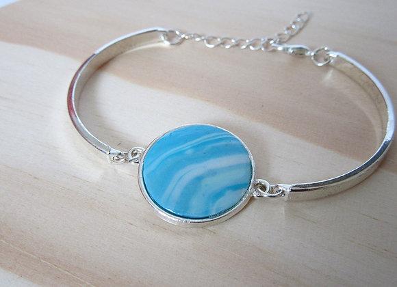 Bracelet avec médaillon aux couleurs de l'océan