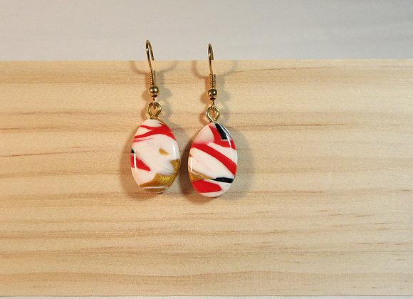 Boucles d'oreilles aux couleurs chaudes