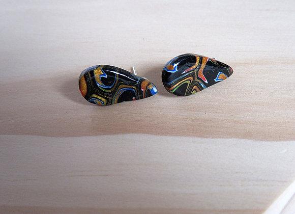 Boucles d'oreilles type «puce» goutte d'eau